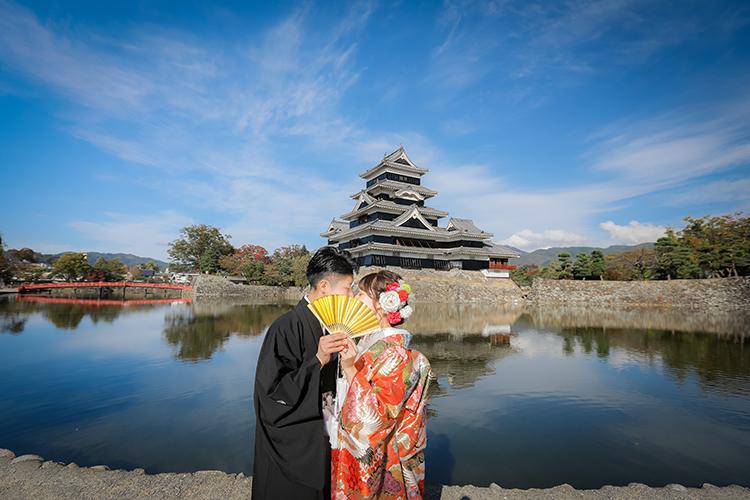 松本城結婚写真