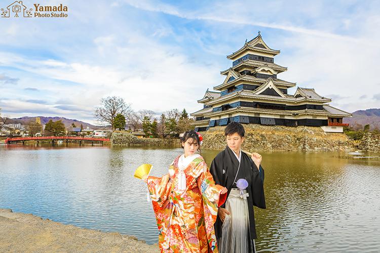 松本城前撮り