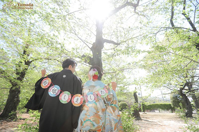 松本城和装ロケ